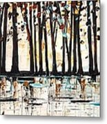Forest In Abstract Metal Print