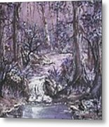 Forest In Lavender Metal Print