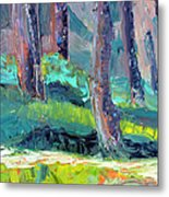 Forest In Motion Metal Print