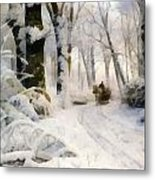 Forest In Winter Metal Print