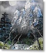 Forest Moon Metal Print