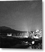 Forest Of Stars Above The Chapel On The Rock Bw Metal Print
