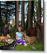 Forest Rendezvous Metal Print