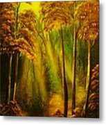 Forest Sunrays- Original Sold -buy Giclee Print Nr 38 Of Limited Edition Of 40 Prints  Metal Print