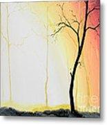 Forest Sunset Metal Print by Denisa Laura Doltu