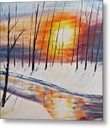 Forest Sunset Metal Print