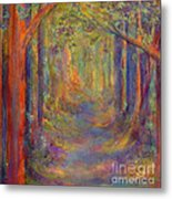Forest Tunnel Metal Print