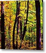 Forest Waves Metal Print