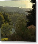 Forested Hills Metal Print