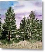 Forest's Edge Metal Print