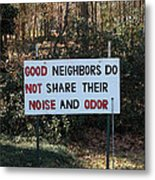 Forget About Tall Fences.... Metal Print