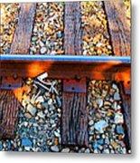 Forgotten - Abandoned Shoe On Railroad Tracks Metal Print