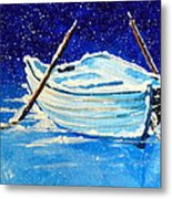 Forgotten Rowboat Metal Print