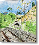 Forgotten Railway Metal Print