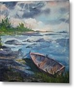 Forgotten Rowboat Metal Print
