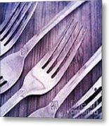 Forks Metal Print