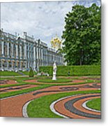 Formal Garden In Front Of The Palace Metal Print