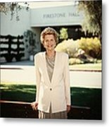 Former First Lady Betty Ford Posing Metal Print