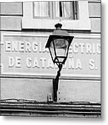 former headquarters of the energia electrica de cataluna raval Barcelona Catalonia Spain Metal Print