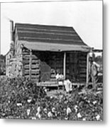 Former Slaves At Their Cabin Metal Print