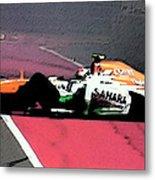 Formula 1 Grand Prix Crash Metal Print
