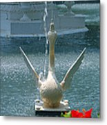 Forsyth Fountain II Detail In Savannah Georgia Metal Print