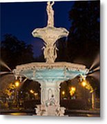 Forsyth Park Fountain Savannah Georgia Metal Print