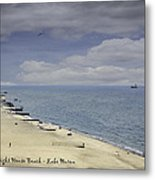 Fort Gratiot Light House Beach Metal Print