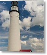 Fort Gratiot Lighthouse And Clouds Metal Print