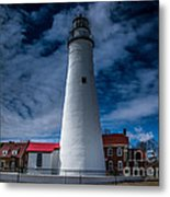 Fort Gratiot Lighthouse From The Water Side Metal Print