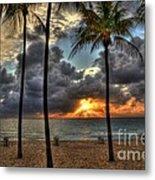 Fort Lauderdale Beach Florida - Sunrise Metal Print