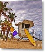 Fort Lauderdale Lifeguard Station Metal Print