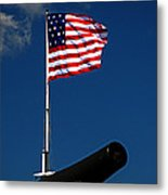 Fort Mchenry Flag And Cannon Metal Print