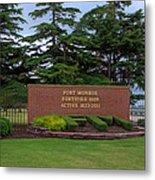 Fort Monroe Main Gate Metal Print
