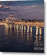 Fort Myers Beach Fishing Pier Metal Print