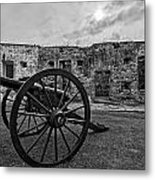 Fort Pike Cannon Metal Print