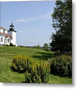 Fort Point Light Maine Metal Print