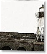 Fort Point Lighthouse Metal Print