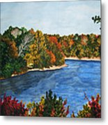 Fort Toulouse Coosa River In Fall Metal Print
