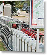 Fort Worth B Cycle 2 Metal Print