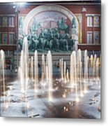 Fort Worth Sundance Square Aug 2014 Metal Print