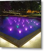 Fort Worth Water Garden Aerated Pool Metal Print