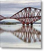 Forth Bridge Reflections Metal Print