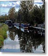 Forth Canal Reflection Metal Print