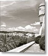 Fortress Overlooking Palma De Majorca Metal Print
