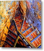 Fortress Steps Metal Print