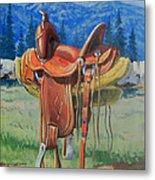 Forty Dollar Saddle Metal Print