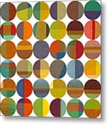 Forty Eight Circles 2.0 Metal Print