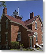 Forty Mile Point Lighthouse In Michigan Number 417 Metal Print