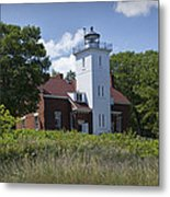 Forty Mile Point Lighthouse In Michigan Number 450 Metal Print